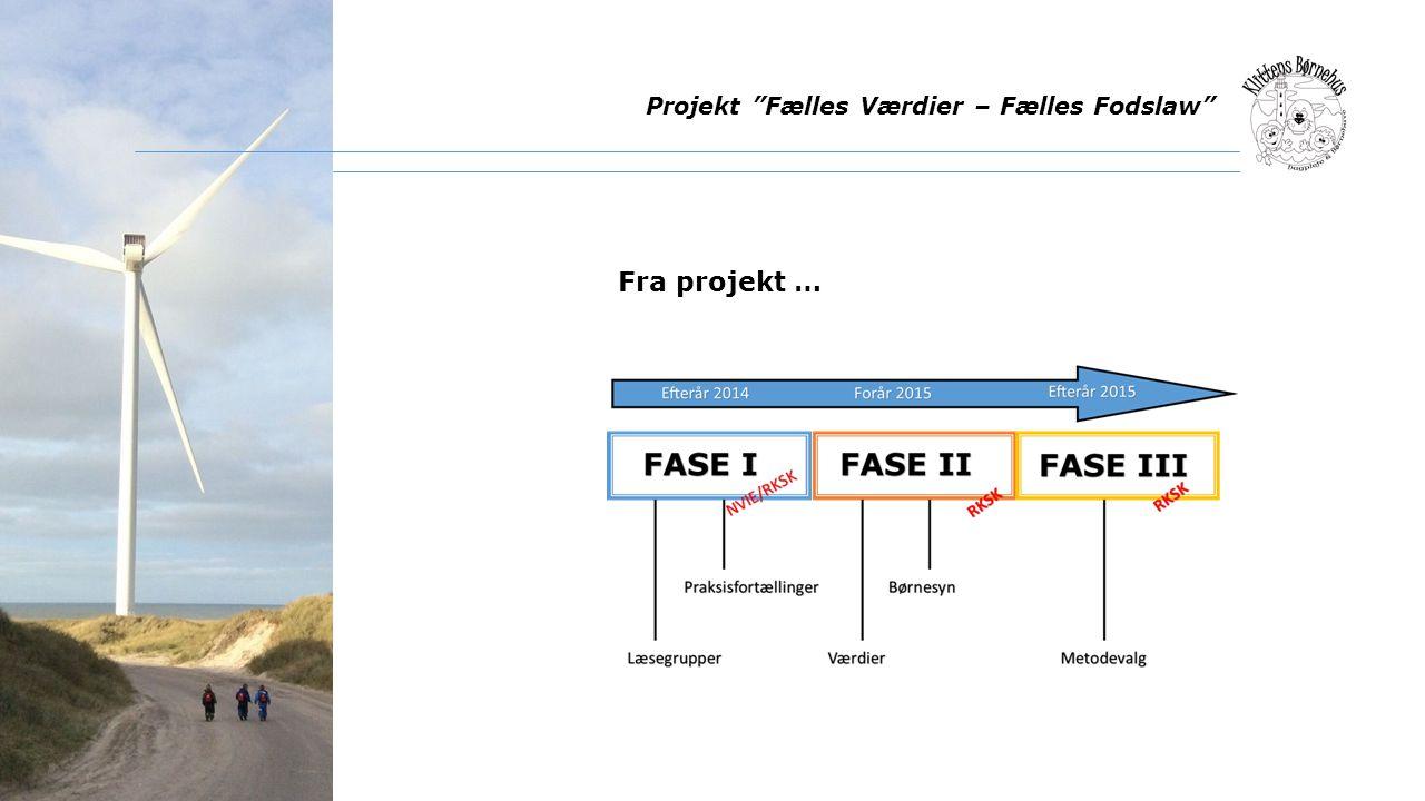 Projekt Fælles Værdier – Fælles Fodslaw