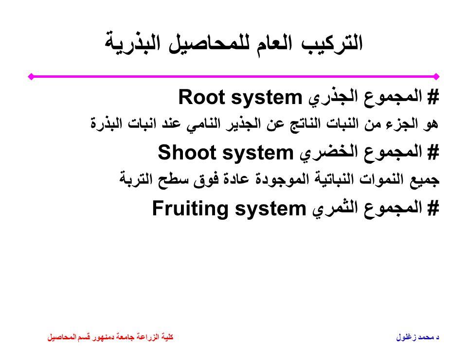 التركيب العام للمحاصيل البذرية