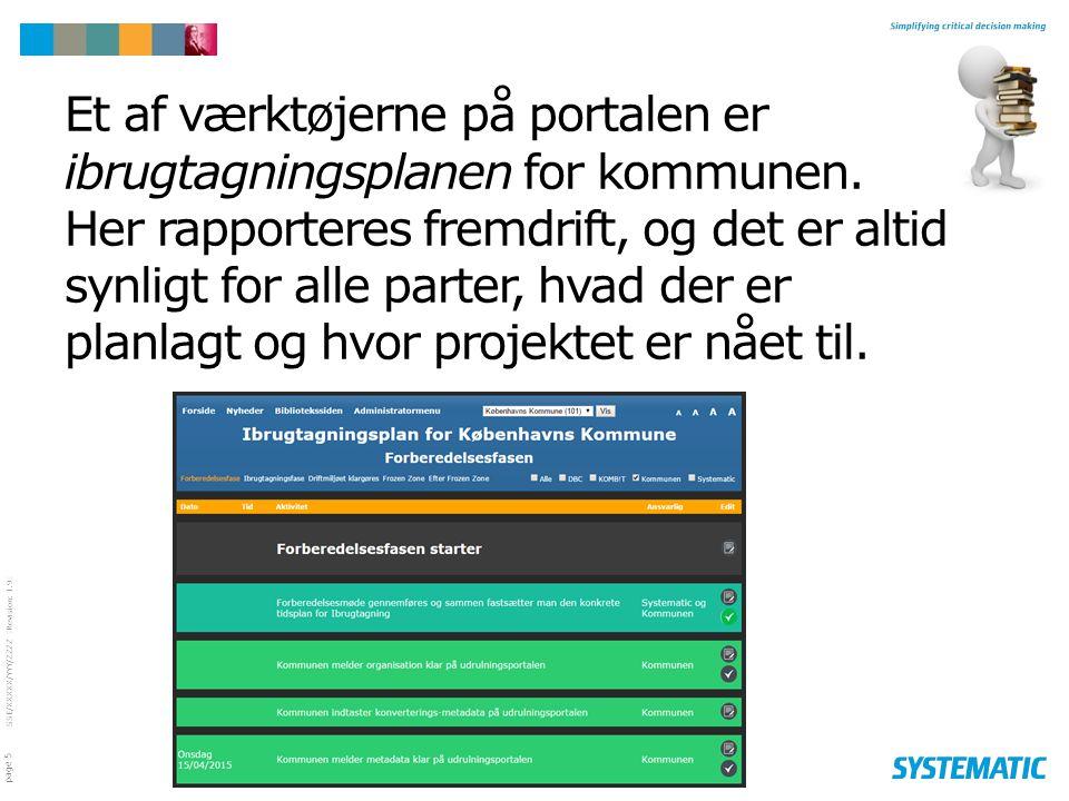Et af værktøjerne på portalen er ibrugtagningsplanen for kommunen
