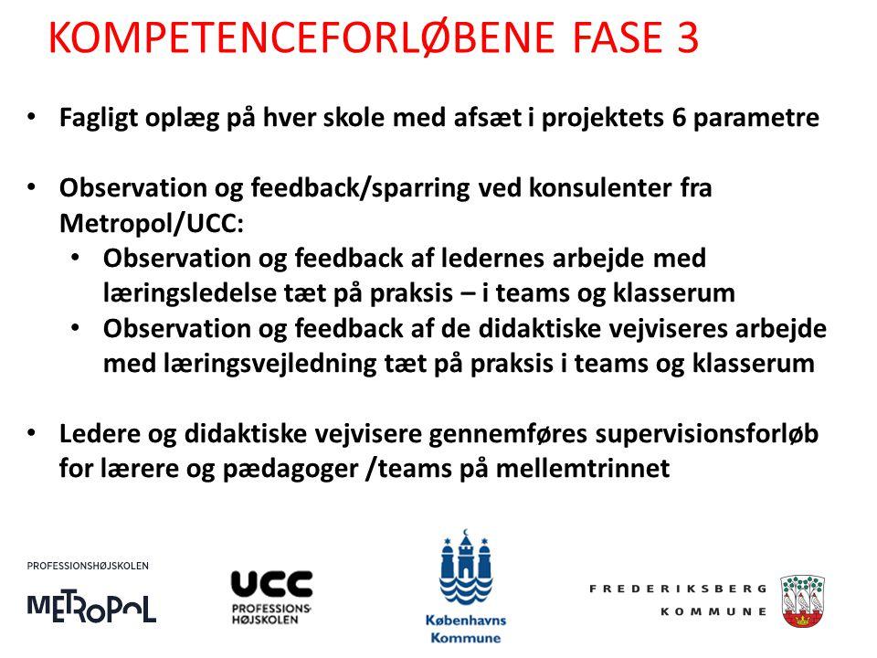 KOMPETENCEFORLØBENE FASE 3