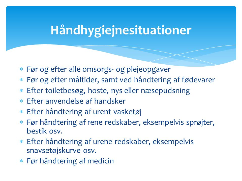 Håndhygiejnesituationer