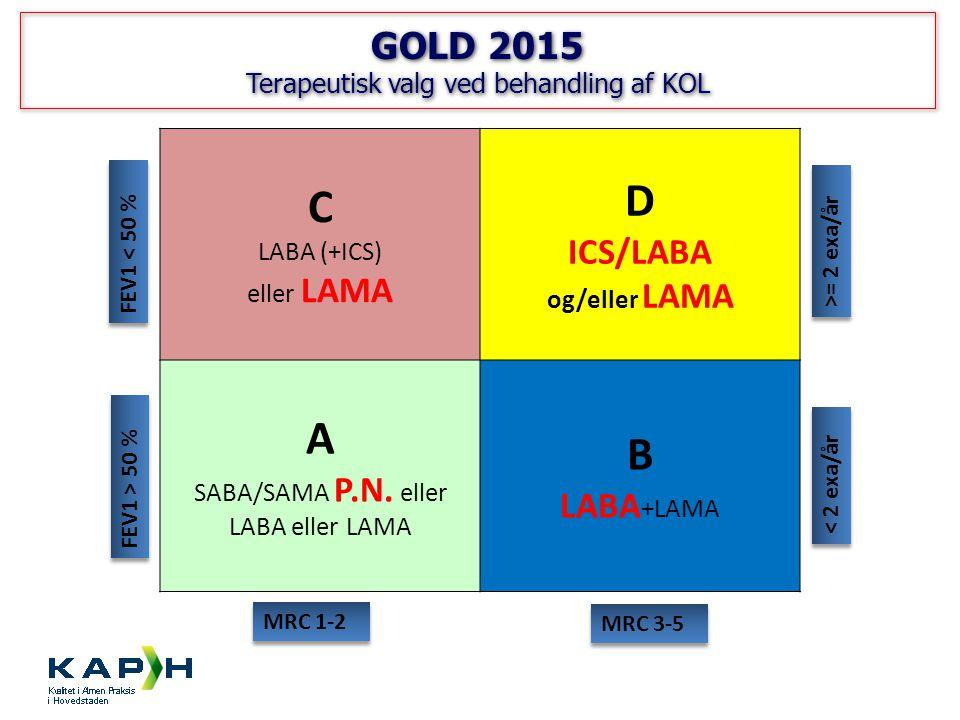 Terapeutisk valg ved behandling af KOL