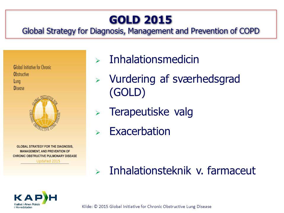 Vurdering af sværhedsgrad (GOLD) Terapeutiske valg Exacerbation