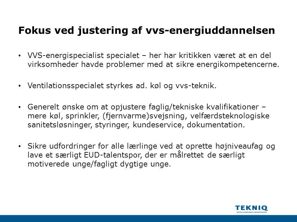 Fokus ved justering af vvs-energiuddannelsen