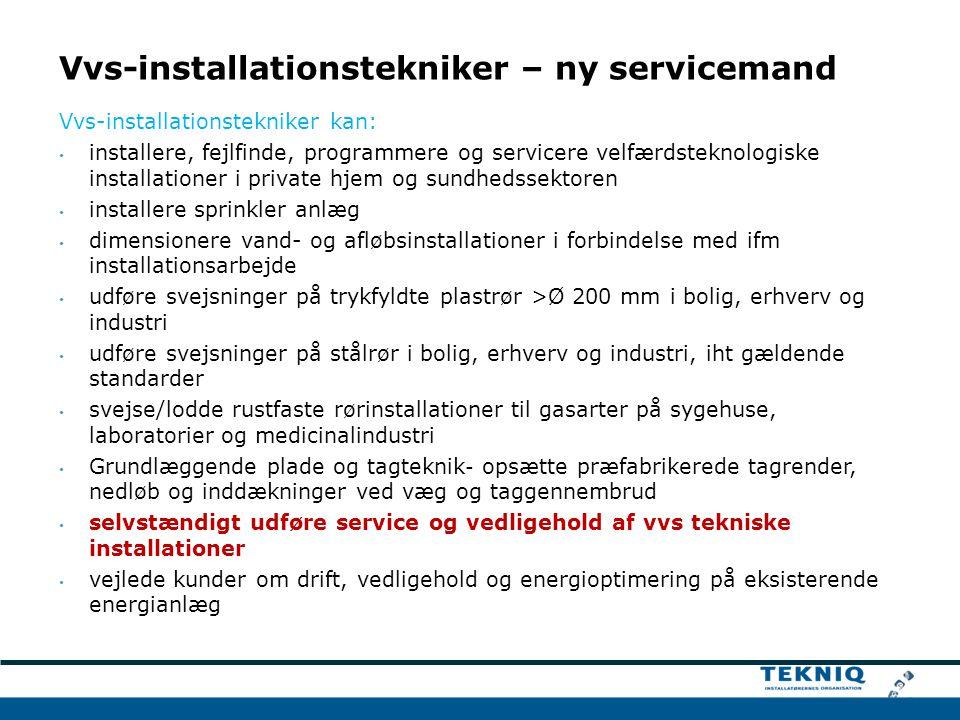 Vvs-installationstekniker – ny servicemand