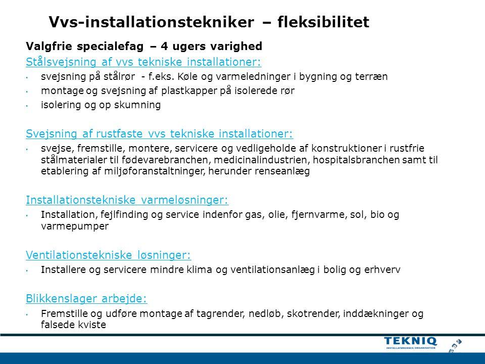 Vvs-installationstekniker – fleksibilitet