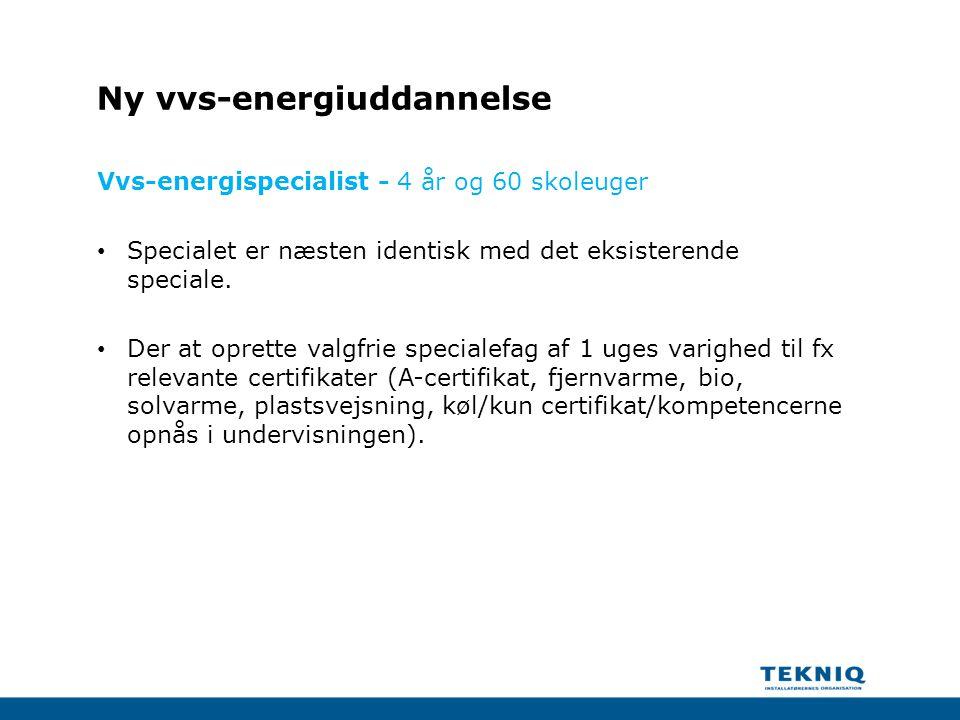 Ny vvs-energiuddannelse