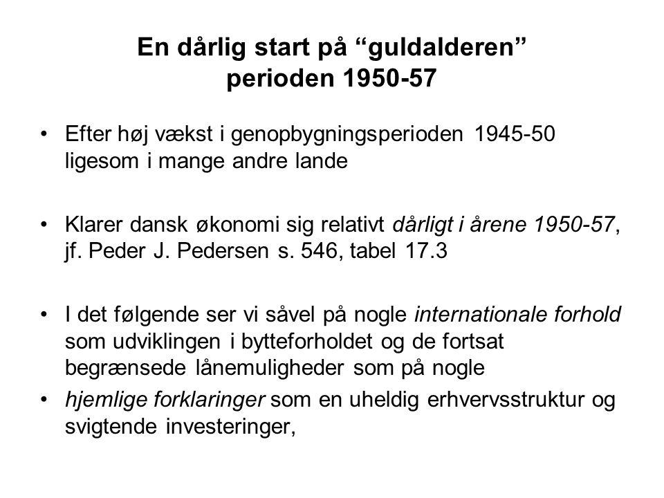 En dårlig start på guldalderen perioden 1950-57