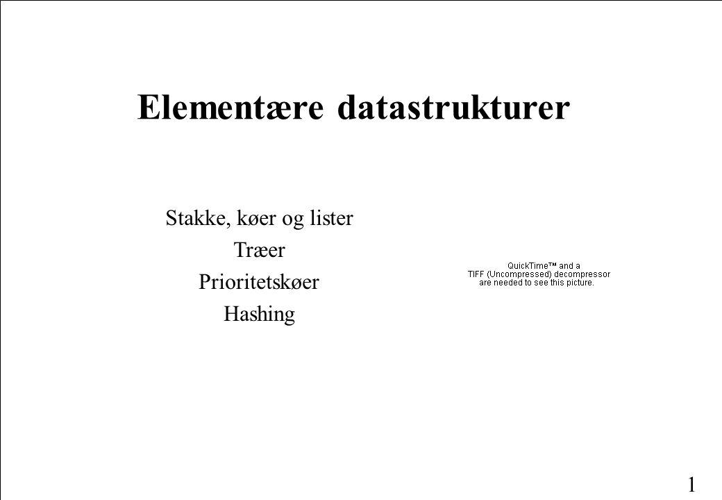 Elementære datastrukturer