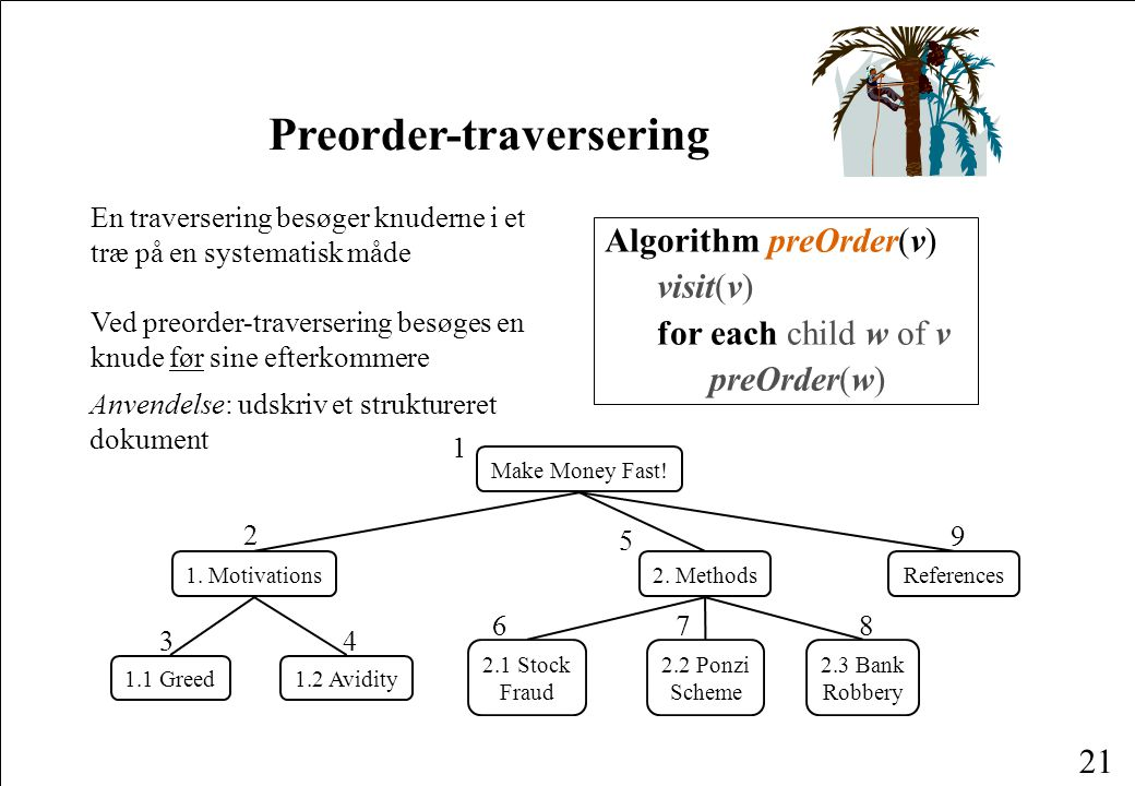 Preorder-traversering