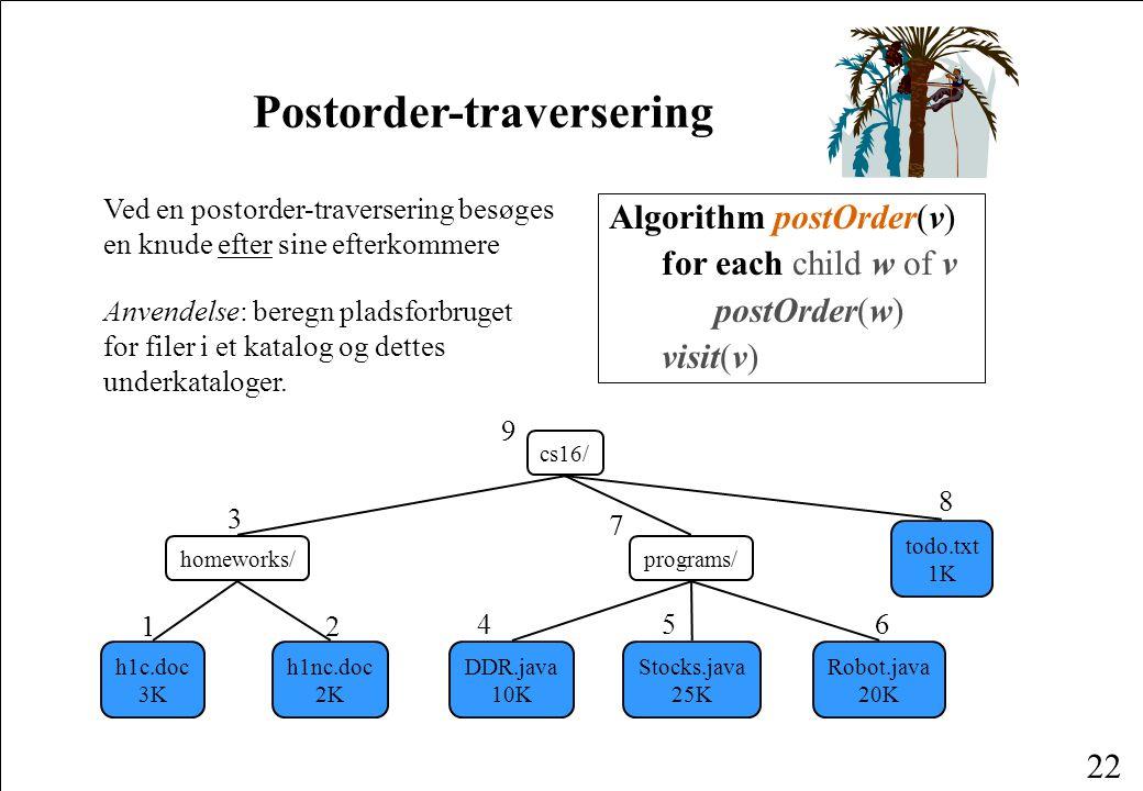 Postorder-traversering