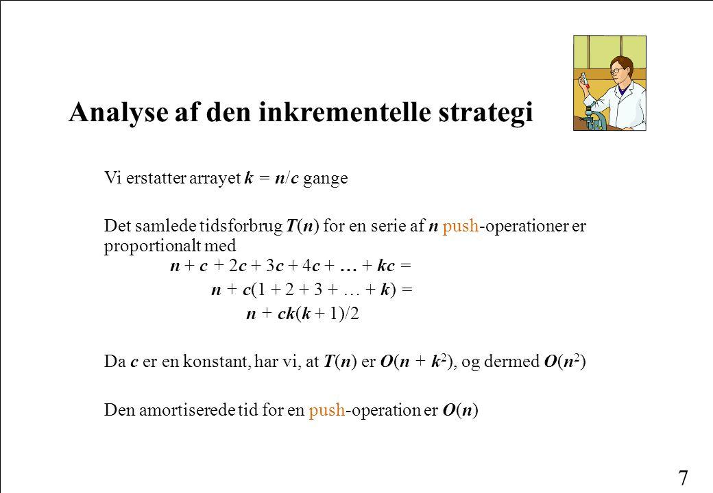 Analyse af den inkrementelle strategi