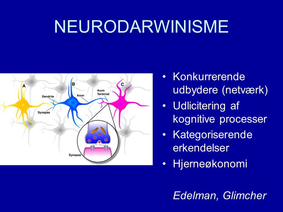 NEURODARWINISME Konkurrerende udbydere (netværk)