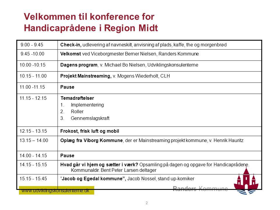 Velkommen til konference for Handicaprådene i Region Midt