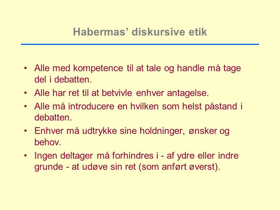 Habermas' diskursive etik