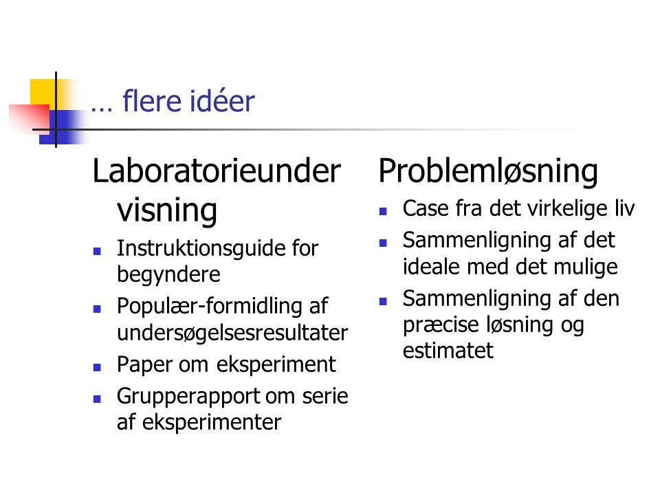 Laboratorieundervisning Problemløsning