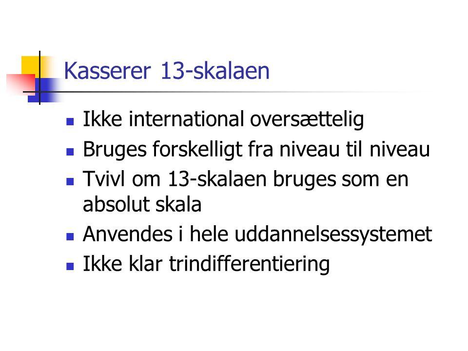 Kasserer 13-skalaen Ikke international oversættelig