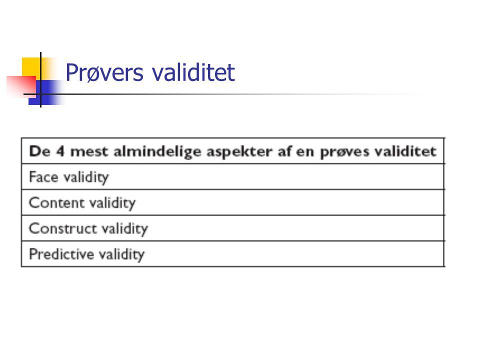 Prøvers validitet