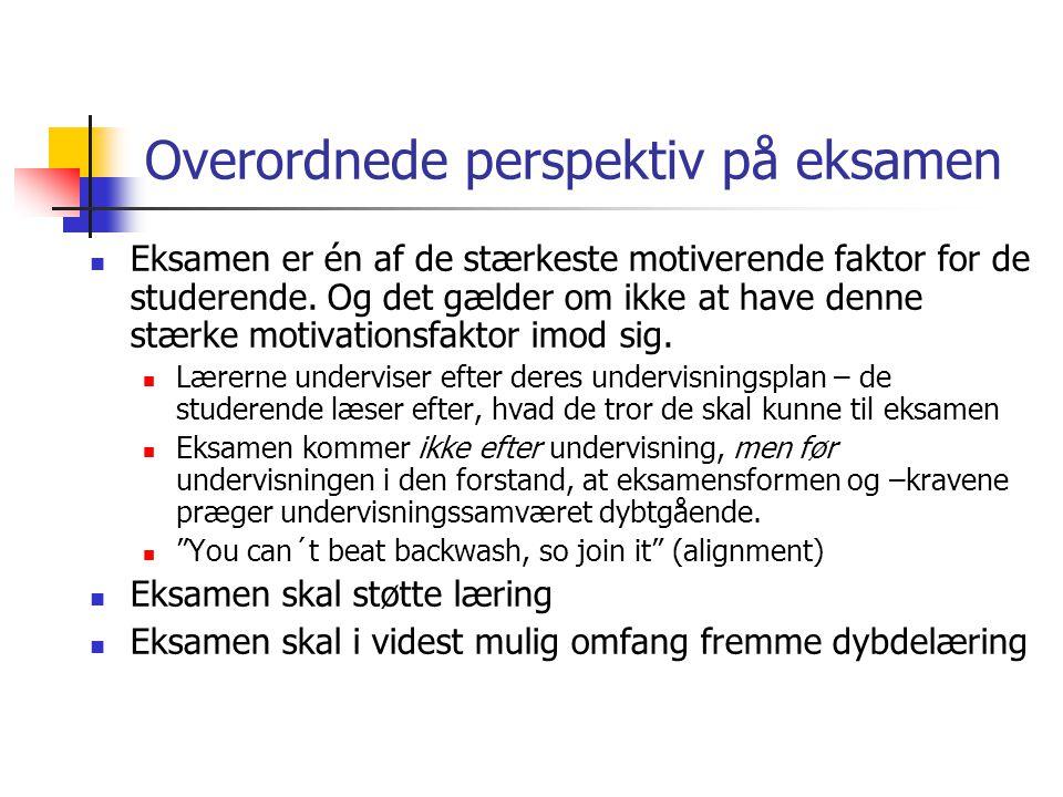 Overordnede perspektiv på eksamen