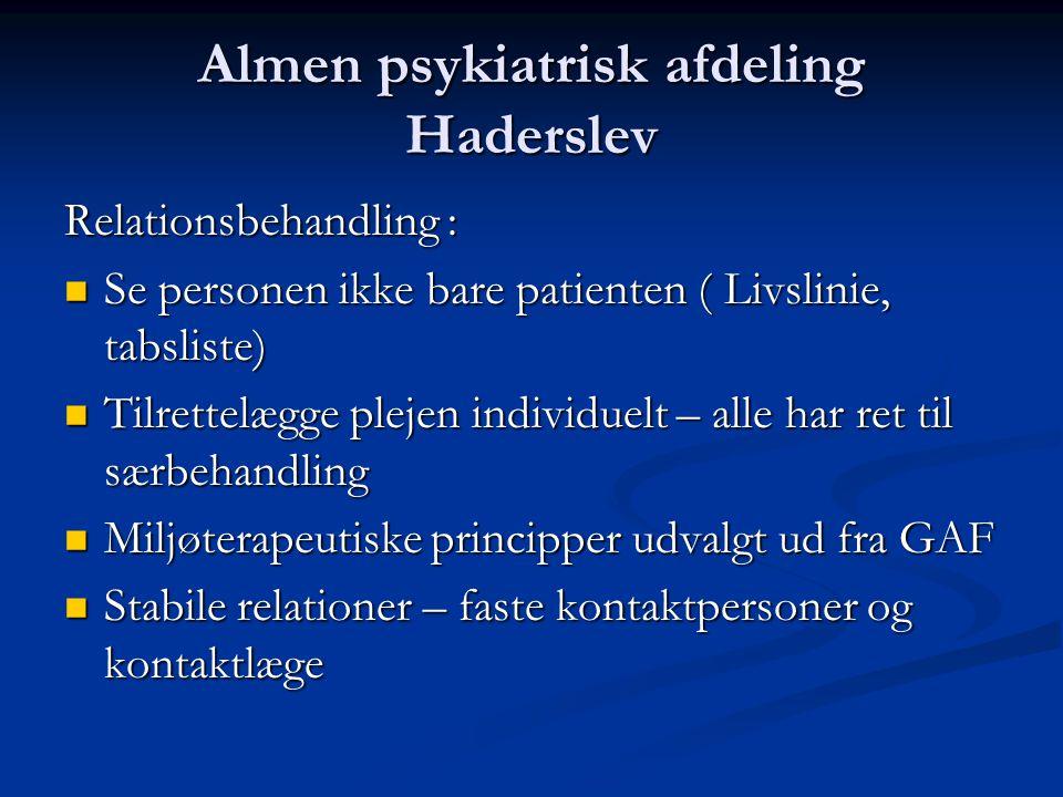 Almen psykiatrisk afdeling Haderslev