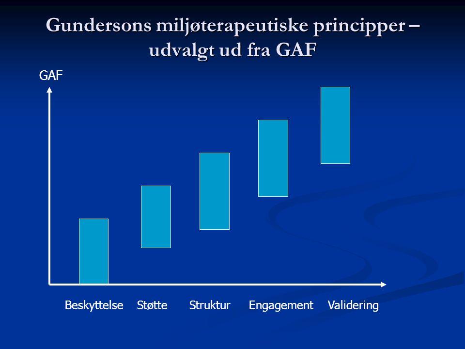Gundersons miljøterapeutiske principper – udvalgt ud fra GAF