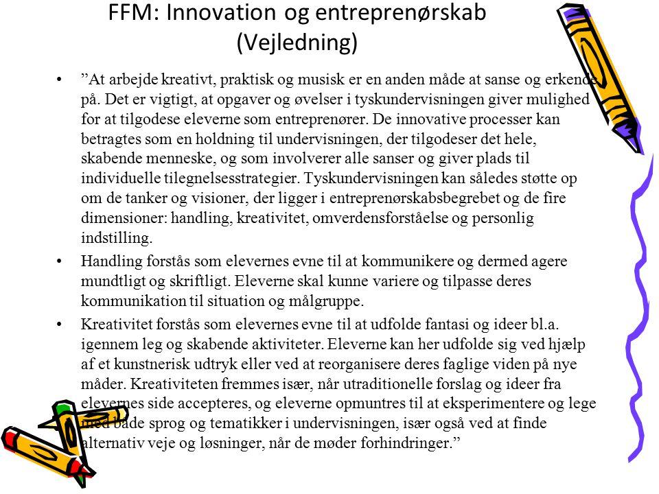 FFM: Innovation og entreprenørskab (Vejledning)