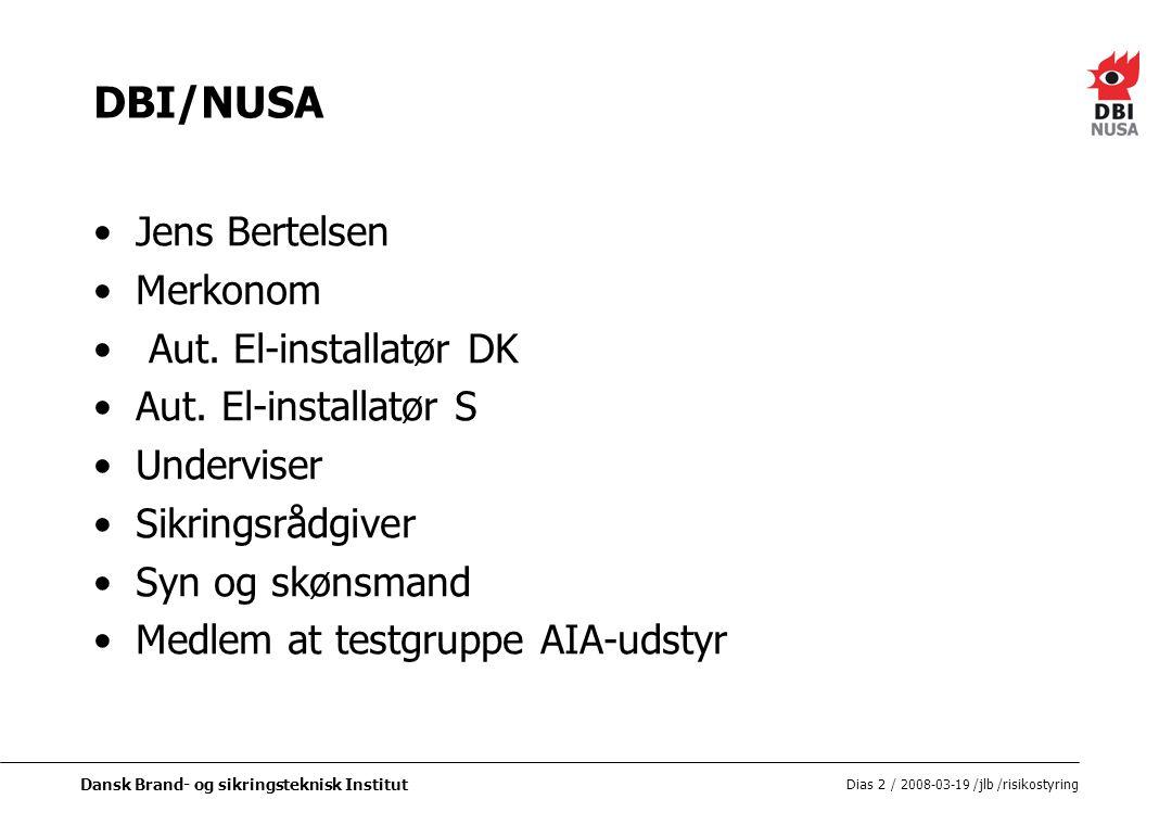 DBI/NUSA Jens Bertelsen Merkonom Aut. El-installatør DK
