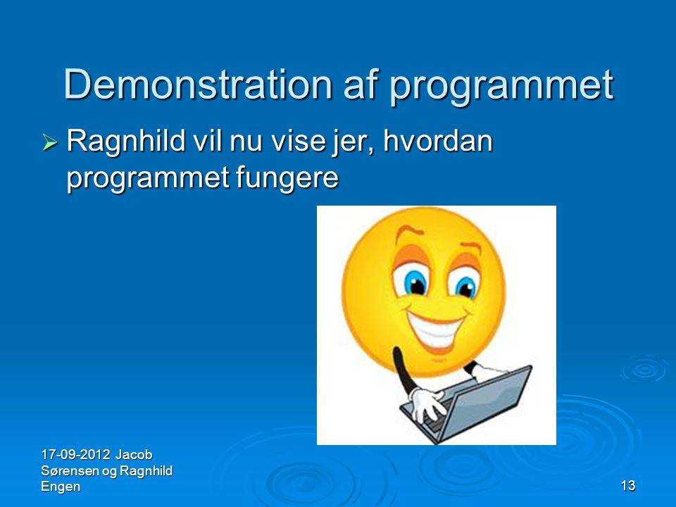 Demonstration af programmet