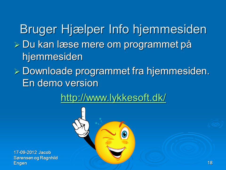 Bruger Hjælper Info hjemmesiden