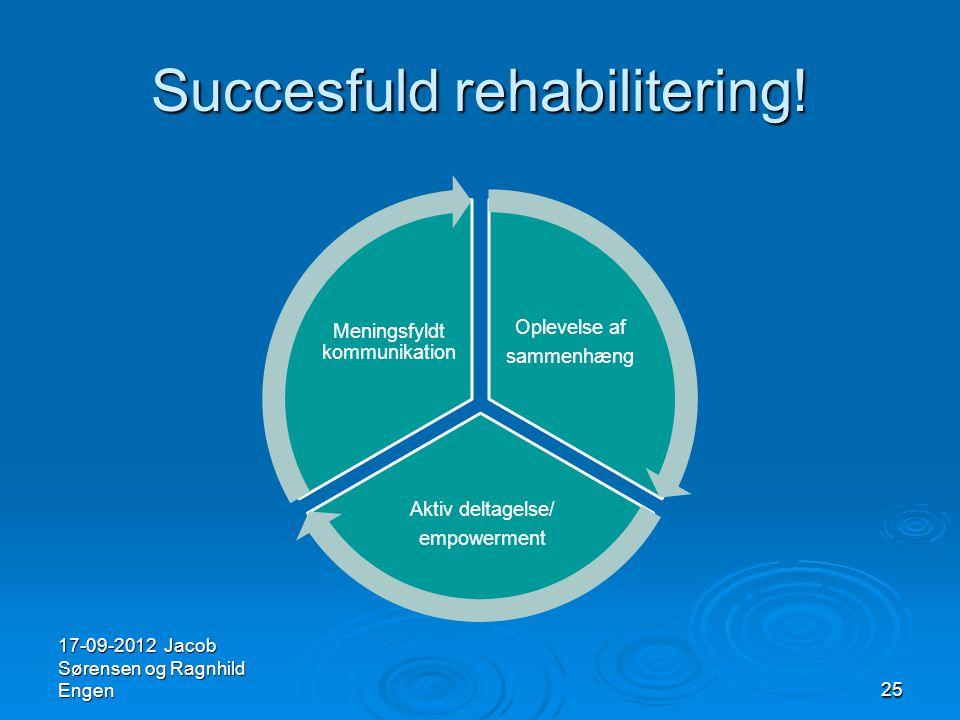 Succesfuld rehabilitering!
