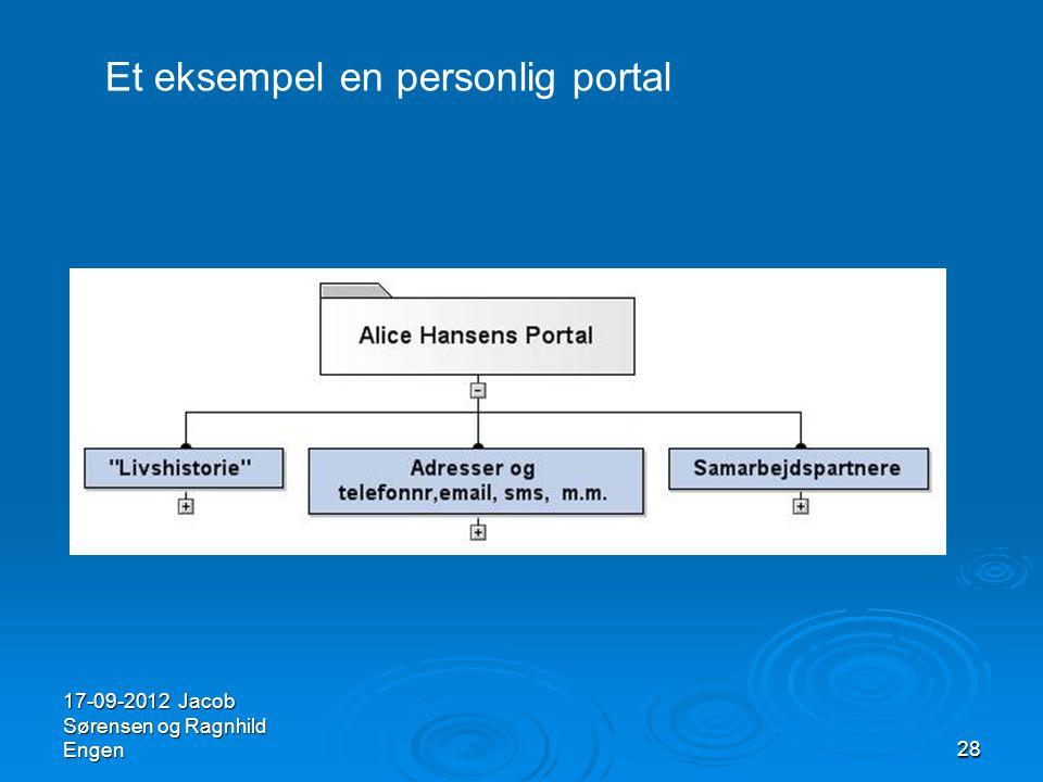 Et eksempel en personlig portal