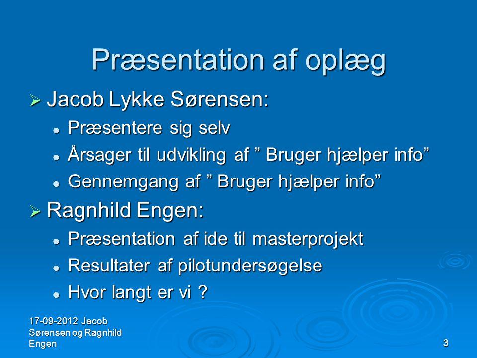 Præsentation af oplæg Jacob Lykke Sørensen: Ragnhild Engen: