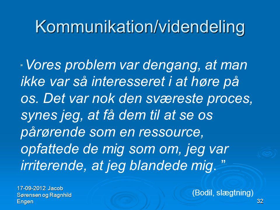 Kommunikation/videndeling