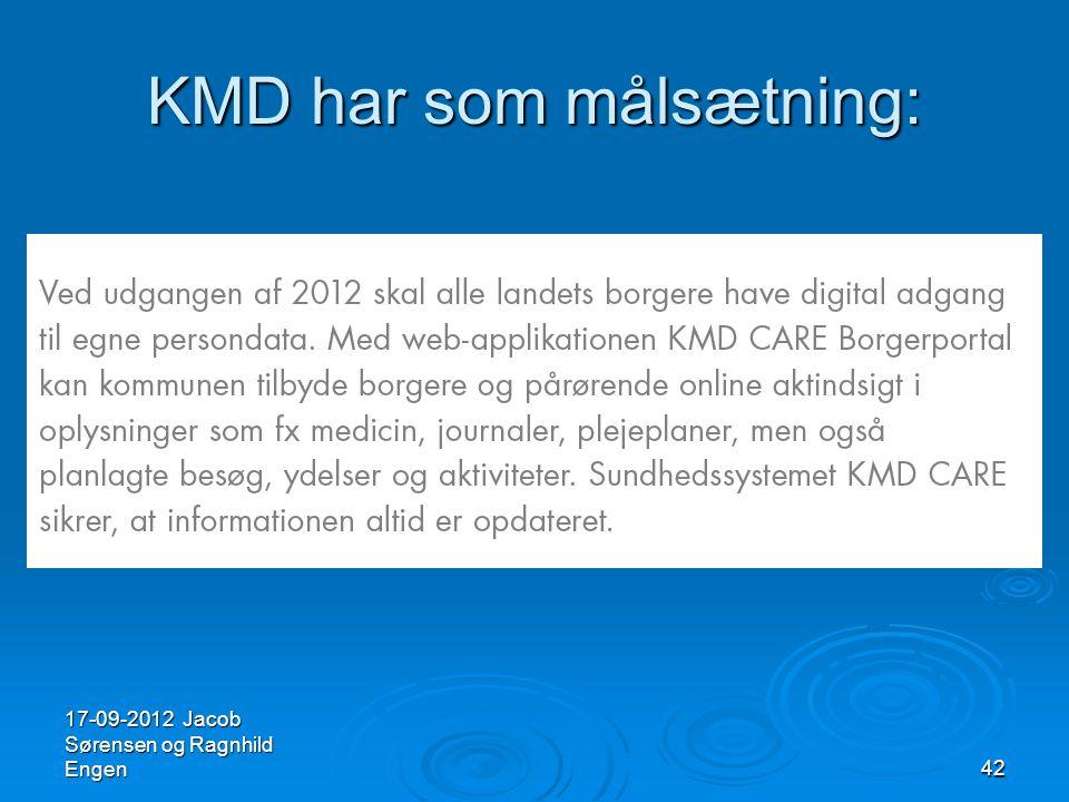 KMD har som målsætning: