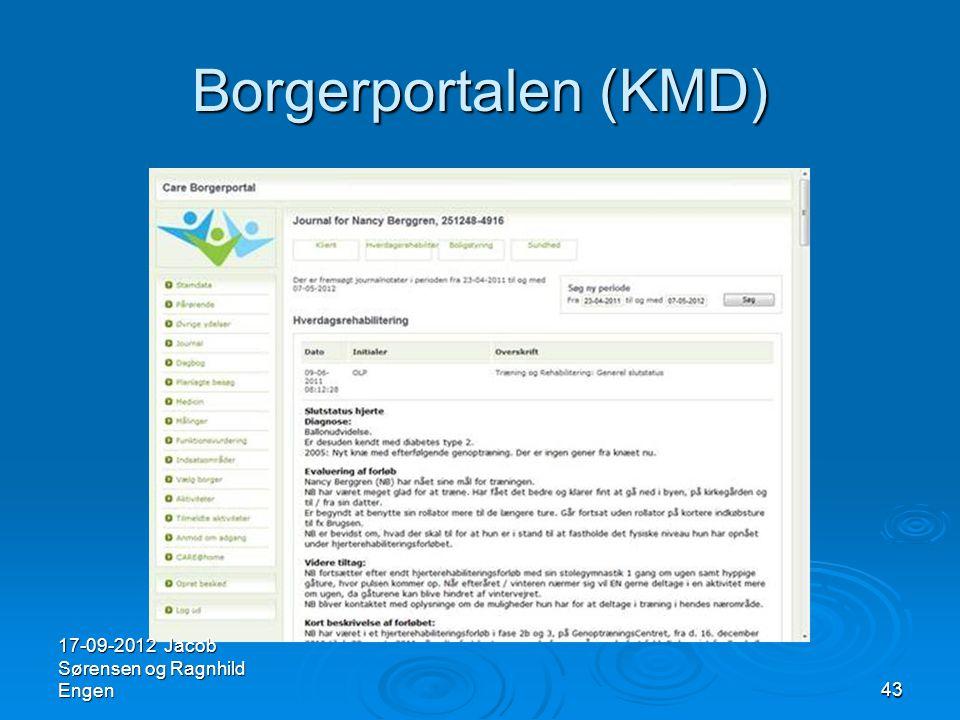 Borgerportalen (KMD) 17-09-2012 Jacob Sørensen og Ragnhild Engen