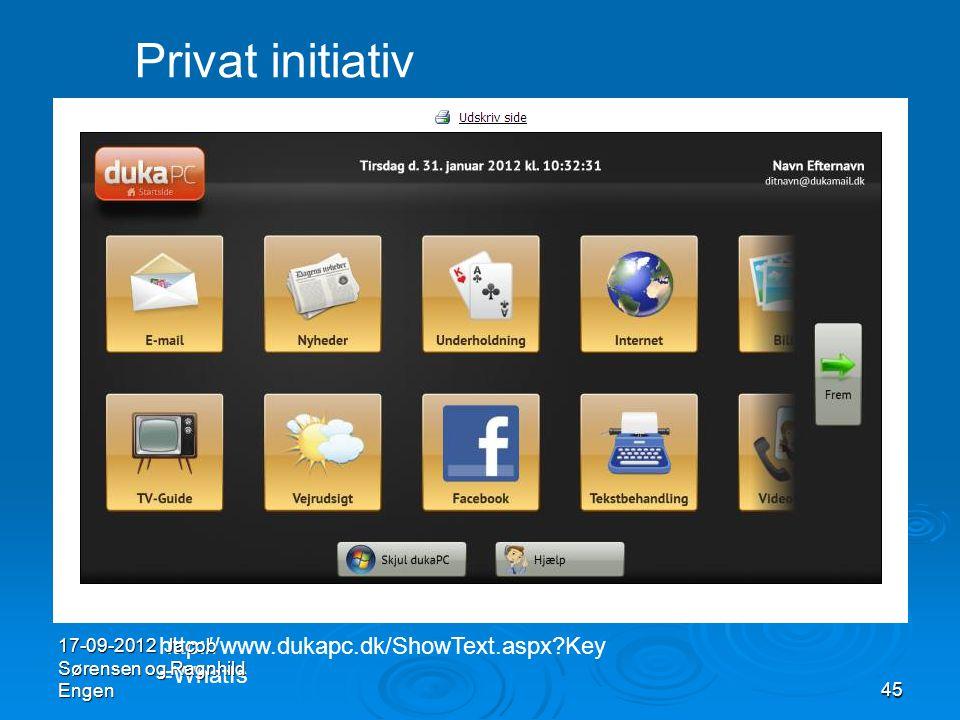 Privat initiativ http://www.dukapc.dk/ShowText.aspx Key=WhatIs