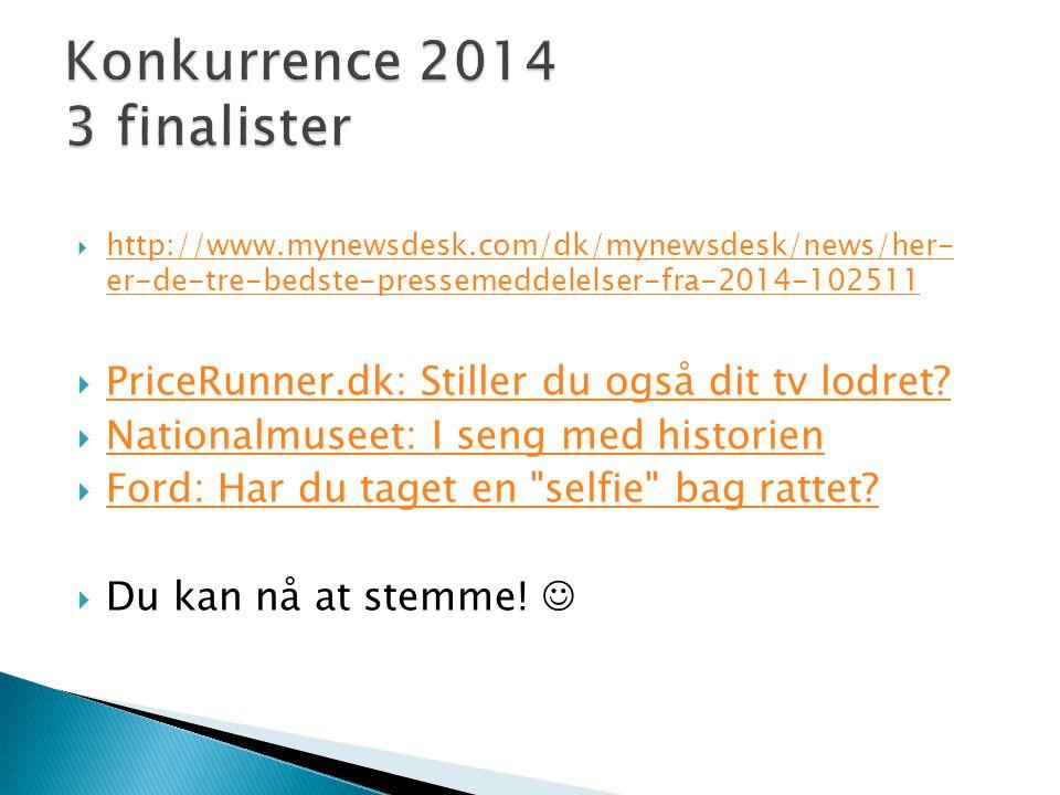 Konkurrence 2014 3 finalister