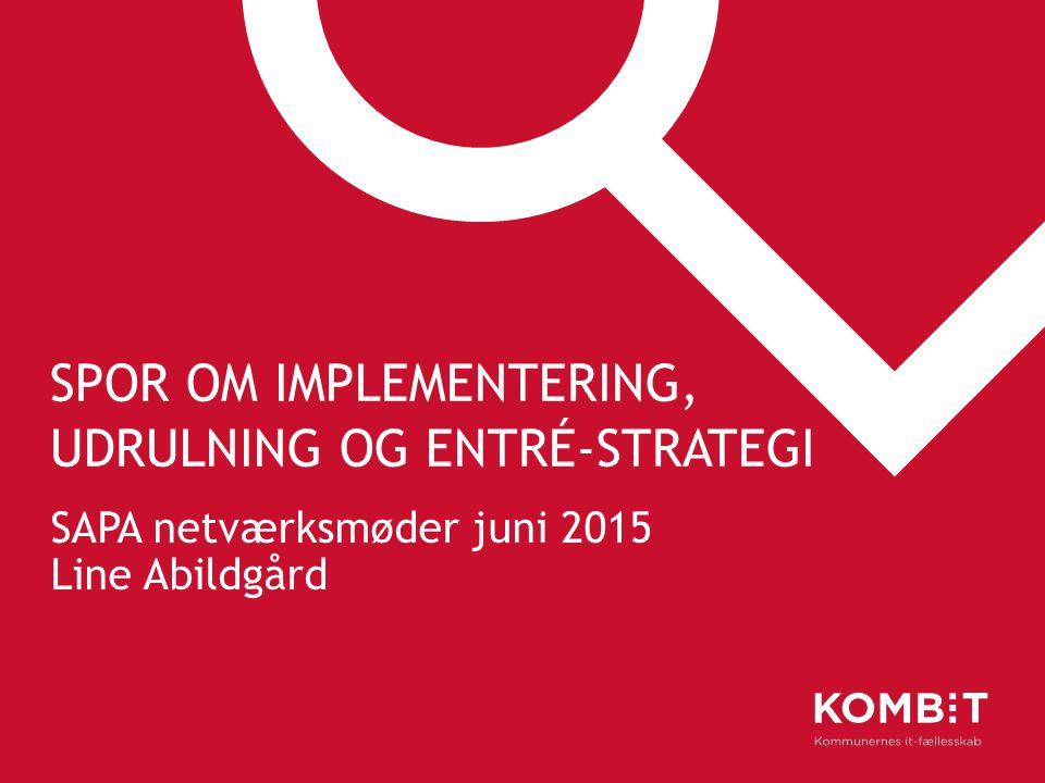 Spor om implementering, udrulning og entré-strategi