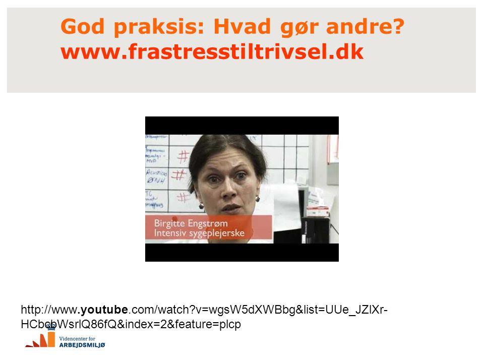 God praksis: Hvad gør andre www.frastresstiltrivsel.dk
