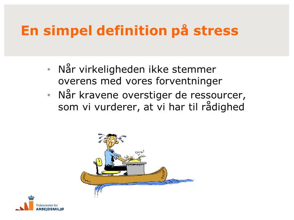 En simpel definition på stress