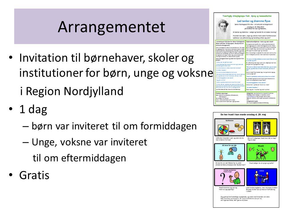 Arrangementet Invitation til børnehaver, skoler og institutioner for børn, unge og voksne. i Region Nordjylland.