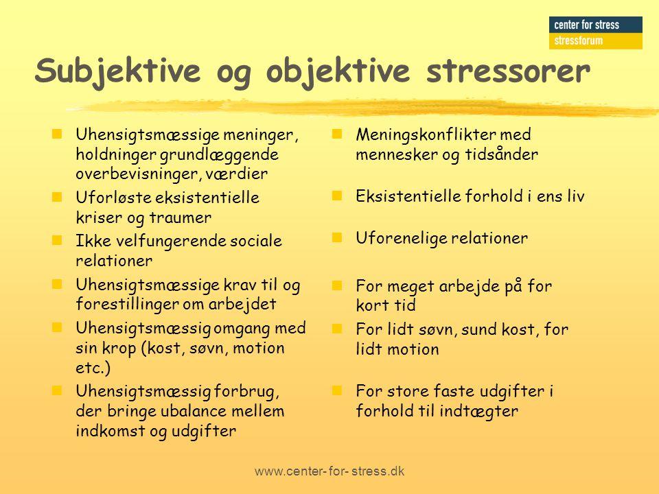Subjektive og objektive stressorer