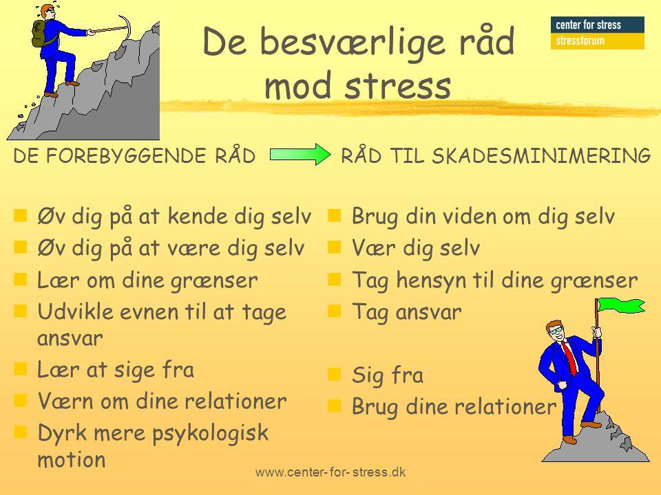 De besværlige råd mod stress