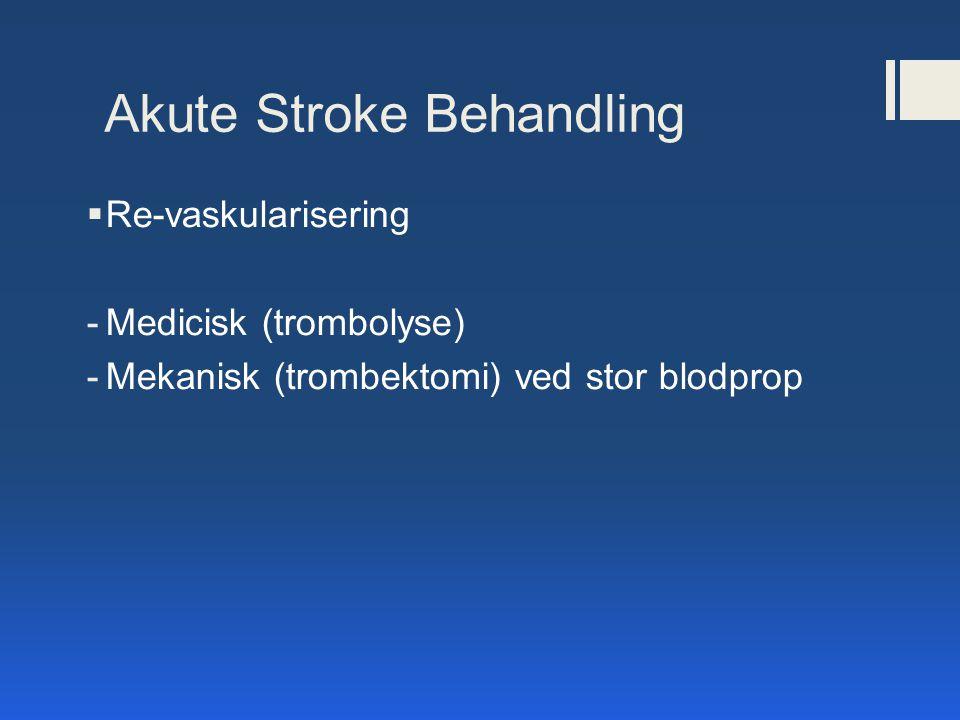 Akute Stroke Behandling