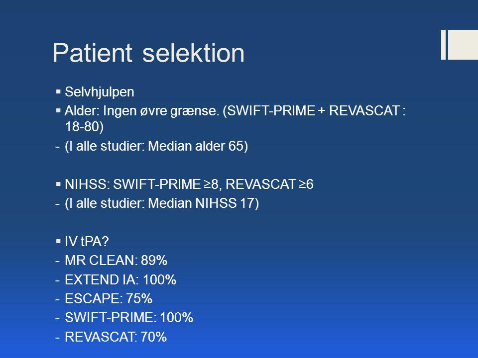 Patient selektion Selvhjulpen