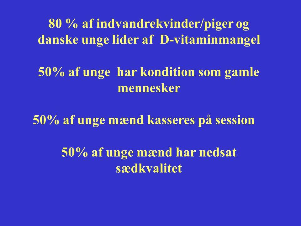 80 % af indvandrekvinder/piger og danske unge lider af D-vitaminmangel