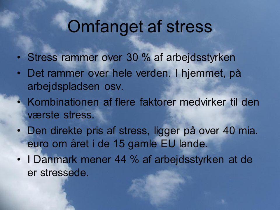 Omfanget af stress Stress rammer over 30 % af arbejdsstyrken