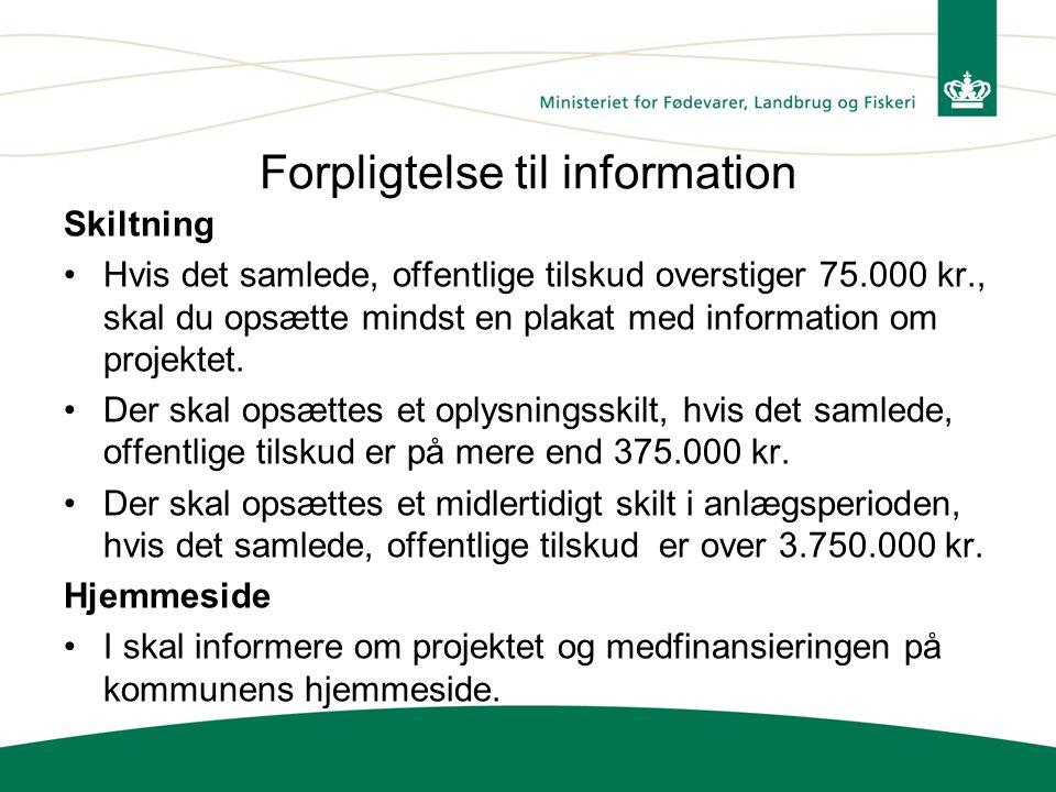 Forpligtelse til information