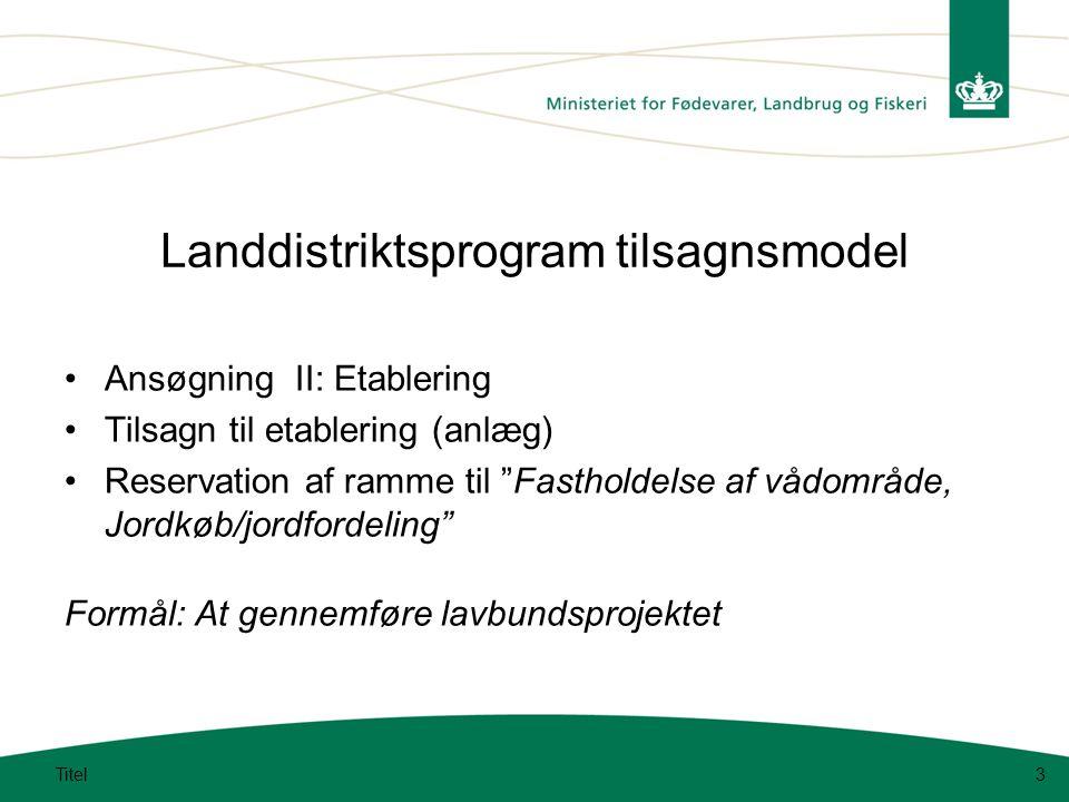 Landdistriktsprogram tilsagnsmodel