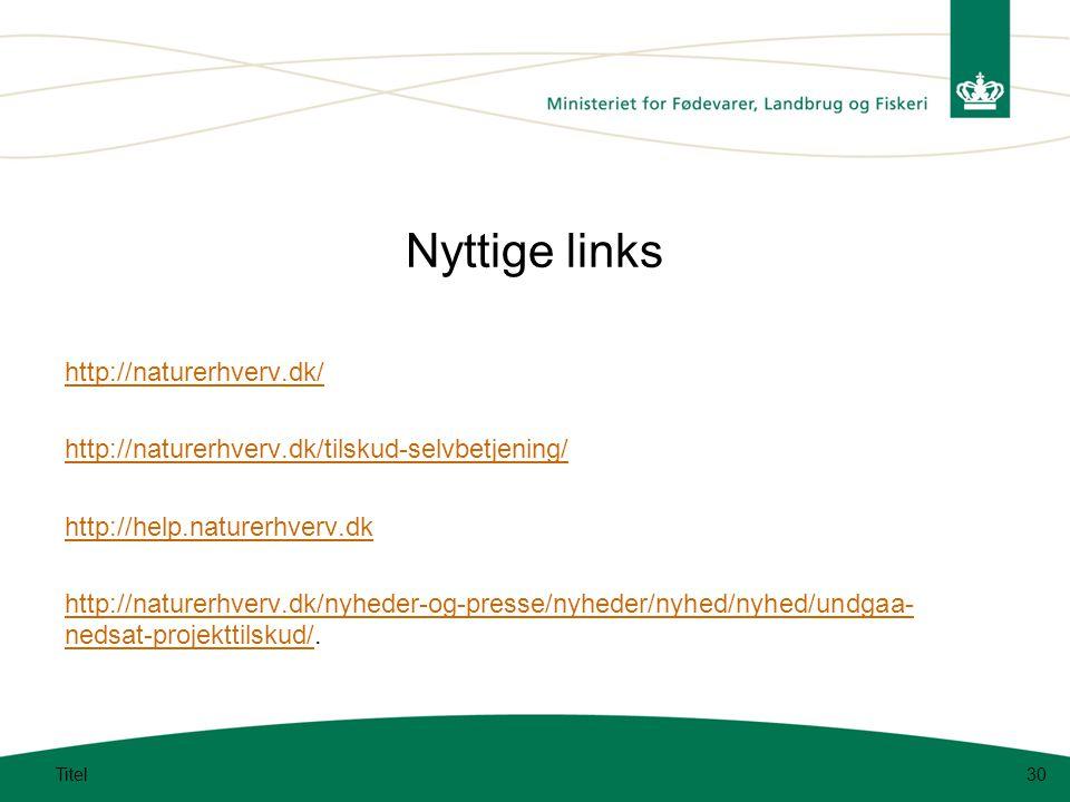Nyttige links http://naturerhverv.dk/